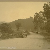 Dublin Boulevard, near Hayward, Alameda County [shows automobiles]