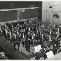 Los Angeles Philharmonic Orchestra in performance at Union Hall in Ljubljana, Yugoslavia