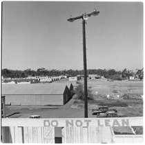 Camp Matthews, Bowling Alley Building, (roof top), Building No.353; view of Rifle ...