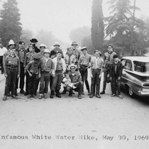 Boy Scout Troop 19 on a Hike, [graphic]