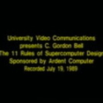 The 11 rules of supercomputer design, lecture by Gordon Bell