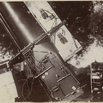 "[The ""eye-end"" of the Pierson telescope, Camp Pierson, Wangi, India]"