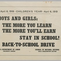 April 6, 1918--Children's year--April 6, 1919: Boys and Girls: The more you ...