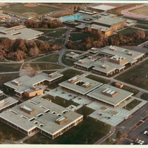 Aerial photograph, West Valley College, west side of campus, 1977