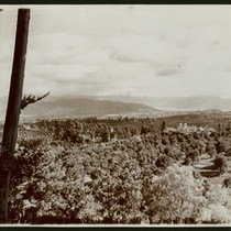 A.C. Burrage mansion as seen from Canon Crest Park (Smiley Heights) in ...