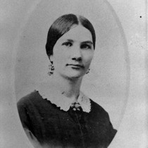 Ada Dougherty (1845-1866), daughter of James and Elizabeth, (c. 1860s), photograph