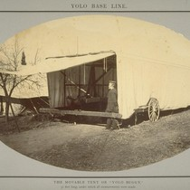 "The Moveable Tent or ""Yolo Buggy"", 51 feet long under which all ..."