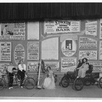 Advertising - Stockton: Large bulletin board displaying advertisements from various businesses
