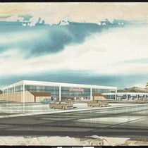 Artist's rendering of a Lucky Supermarket
