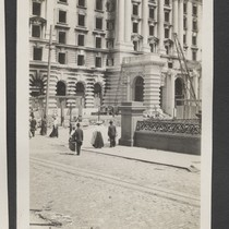 [Fairmont Hotel during reconstruction.]