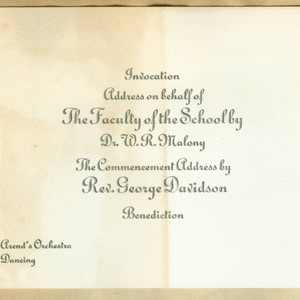 Commencement address card