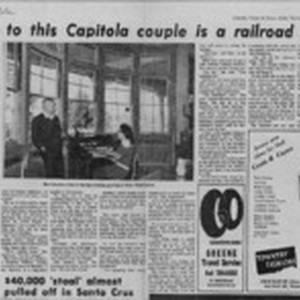 Home to this Capitola couple is a railroad depot