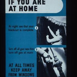 In an air raid, if you are at home. At night see ...