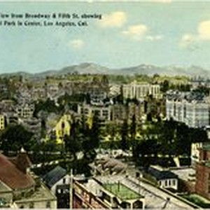 Panoramic View of Central Park from Broadway & Fifth St. Showing Central ...