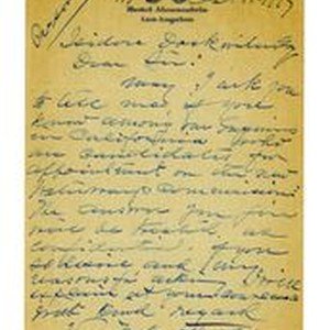 Letter to Isidore Dockweiler, October 11, 1917