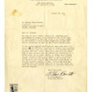 Letter from A. Clair Barret, Relocation Officer, War Relocation Authority to Mr. ...