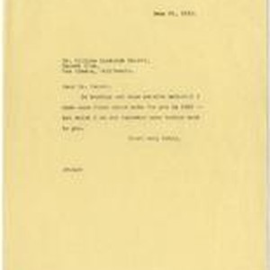 Letter from Julia Morgan to William Randolph Hearst, June 25, 1923
