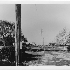 Looking west on Terry Road from house no. 1944, Santa Rosa, California, ...