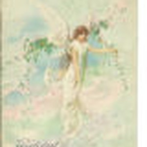 Easter greeting with an angel design