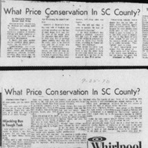 What price conservation in SC County?