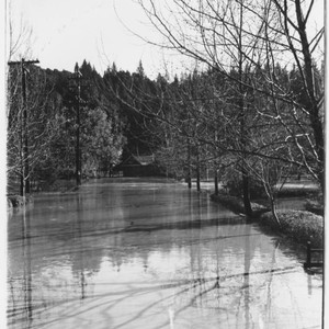 Streets of Guerneville during flood of Dec. 1937