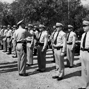California Highway Patrol inspection, Santa Ana, March 3, 1952