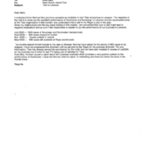 [Email from Mounif Fawaz to Mark Rolfe regarding the perfomance of Dorchester ...