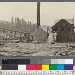 Power Plant, Pond, refuse chain and front end of mill of Spanish ...