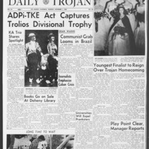 Daily Trojan, Vol. 54, No. 28, November 01, 1962