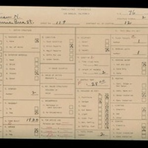 WPA household census for 119 S BONNIE BRAE ST, Los Angeles