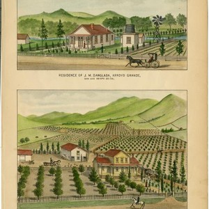 Danglada, J. M., Residence, Arroyo Grande; Abbott, Austin, Ranch and Residence, near ...