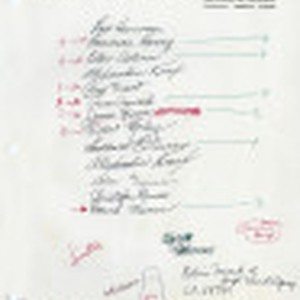 Handwritten notes relating to Eulogy to 5:02 [from] Bruce Herschensohn, Hollywood, Calif. ...