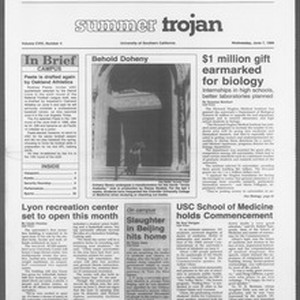 Summer Trojan, Vol. 109, No. 4, June 07, 1989