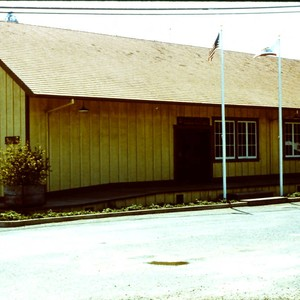 Duncans Mills freight shed of the historic Railroad Depot (Parks and Recreation ...