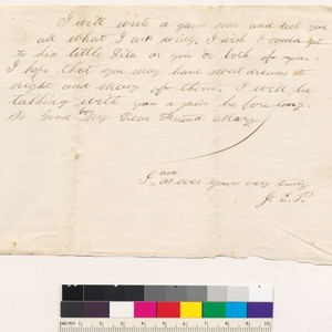 Letter to Mary from J.E