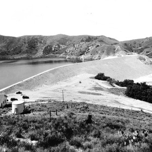 Santiago Reservoir, Irvine Lake at Irvine Ranch, California: Photograph