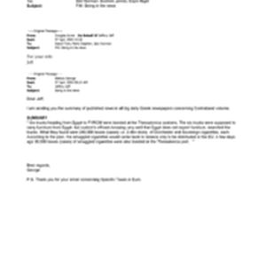 [Email from Stephen Perks to Norman Bell, James Boxford Nigel Espin regarding ...
