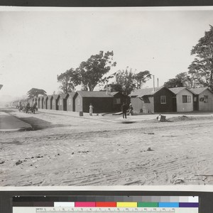 [Cottages. Unidentified refugee camp.]