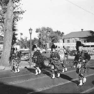 Sciots marching band in a parade