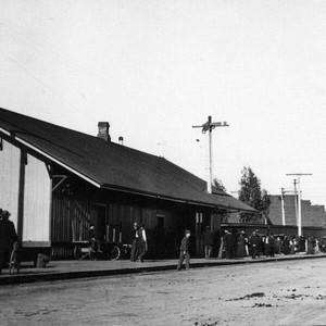 Railroad station, Petaluma, California