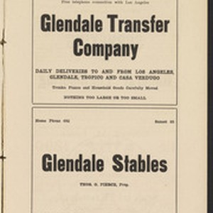 Glendale City Directory 1909