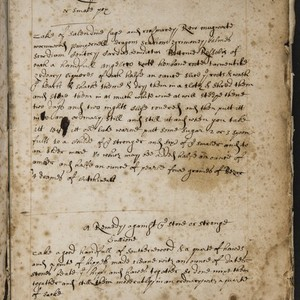 [Cookery and medical commonplace book].