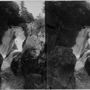 9- High Falls Forge on Ausable River on road to Lake Placid. ...