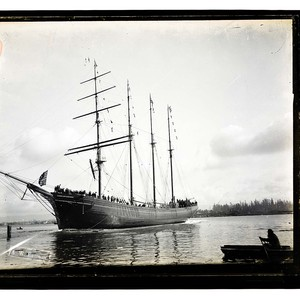 "[Bendixsen Ship yard - ""Jane Stanford"" just launched/unknown]"