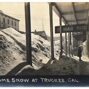 Some snow at Truckee, Cal.