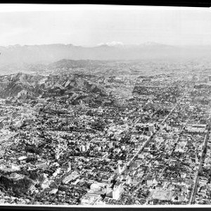 "Aerial view of Hollywood, ""Hollywood for Exhibit Dept. Arials"""