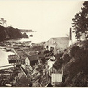 [East end of the Noyo River Mill, Mendocino County], no. 204