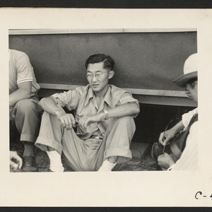 Sacramento, Calif.--Bill Fujii, evacuee of Japanese ancestry, who has completed three years ...