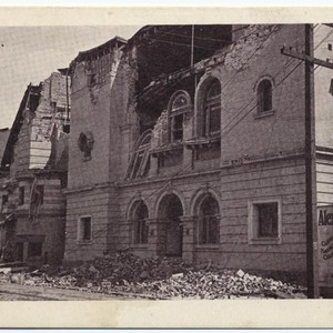 Scotish Rite Temple and New Synagogue, San Francisco, Cal., after the earthquake, ...