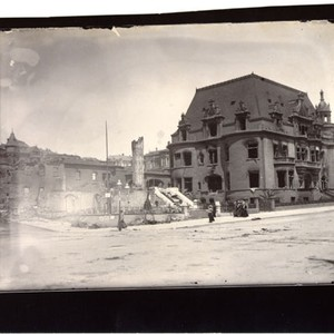 [Ruins of the Claus Spreckels residence at Van Ness Avenue and Clay ...